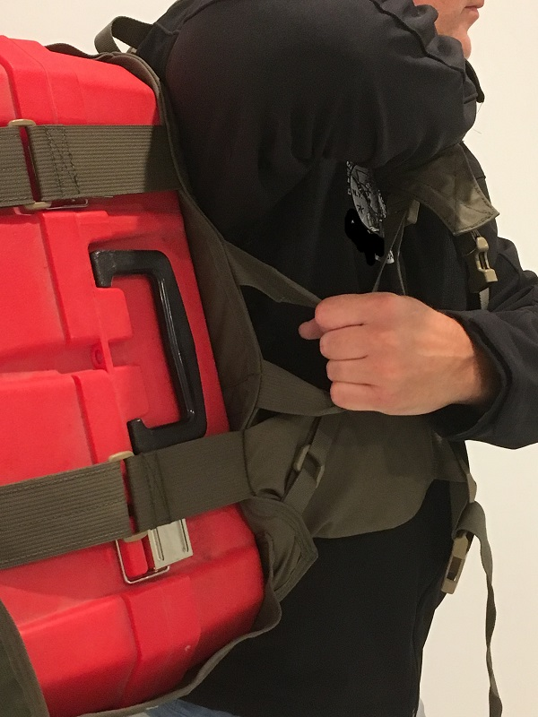 Rated (up to 160 lbs) Carry/Hoisting Handle. Also Helps You Remove Pack With Heavy Load